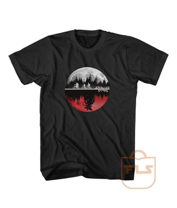 Stranger Things Moon Upside Down T Shirt