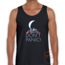 Tesla Roadster Don't Panic Tank Top