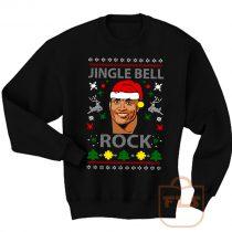 The Rock Jingle Bell Ugly Christmas Sweatshirt Men Women