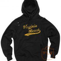 Virginia Beach Typography Baseball Font Hoodie
