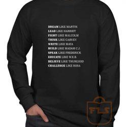 Black Lives Matter History Long Sleeve Shirt