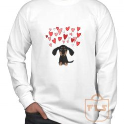 Cute Dachshund Puppy Love Long Sleeve Shirt