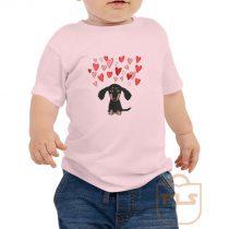 Cute Dachshund Puppy Love Toddler T Shirt