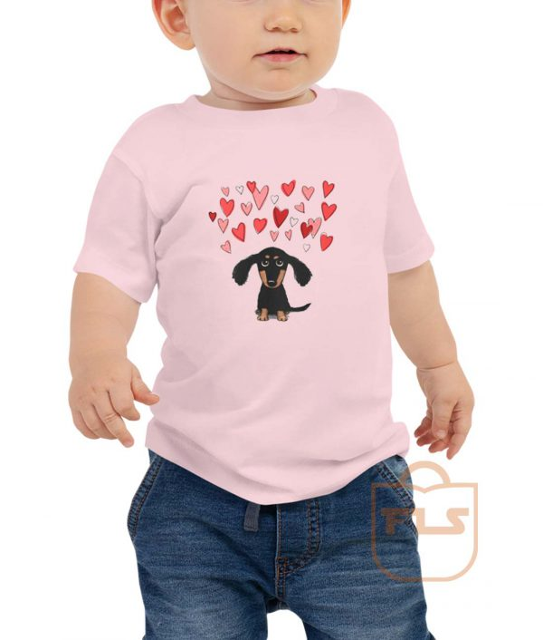 Cute Dachshund Puppy Love Toddler T Shirt