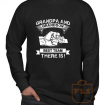 Grandpa Grandson Best Team Long Sleeve Shirt