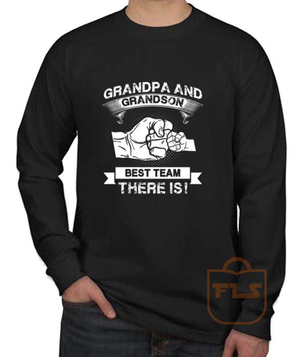 Grandpa Grandson Best Team Long Sleeve Shirt