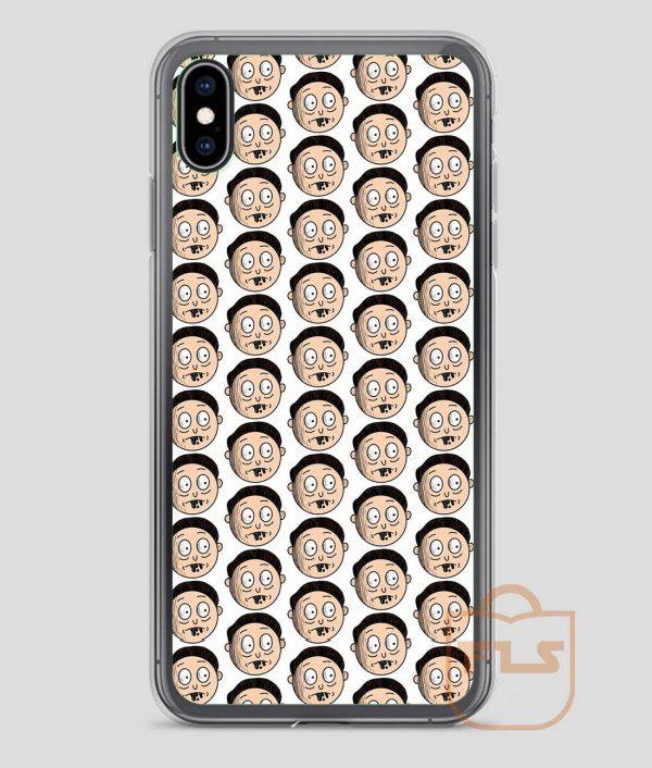 Morty-Ugly-Face-Pattern-iPhone-Case