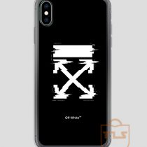 Off-White Arrows Temperature Glitch iPhone Case