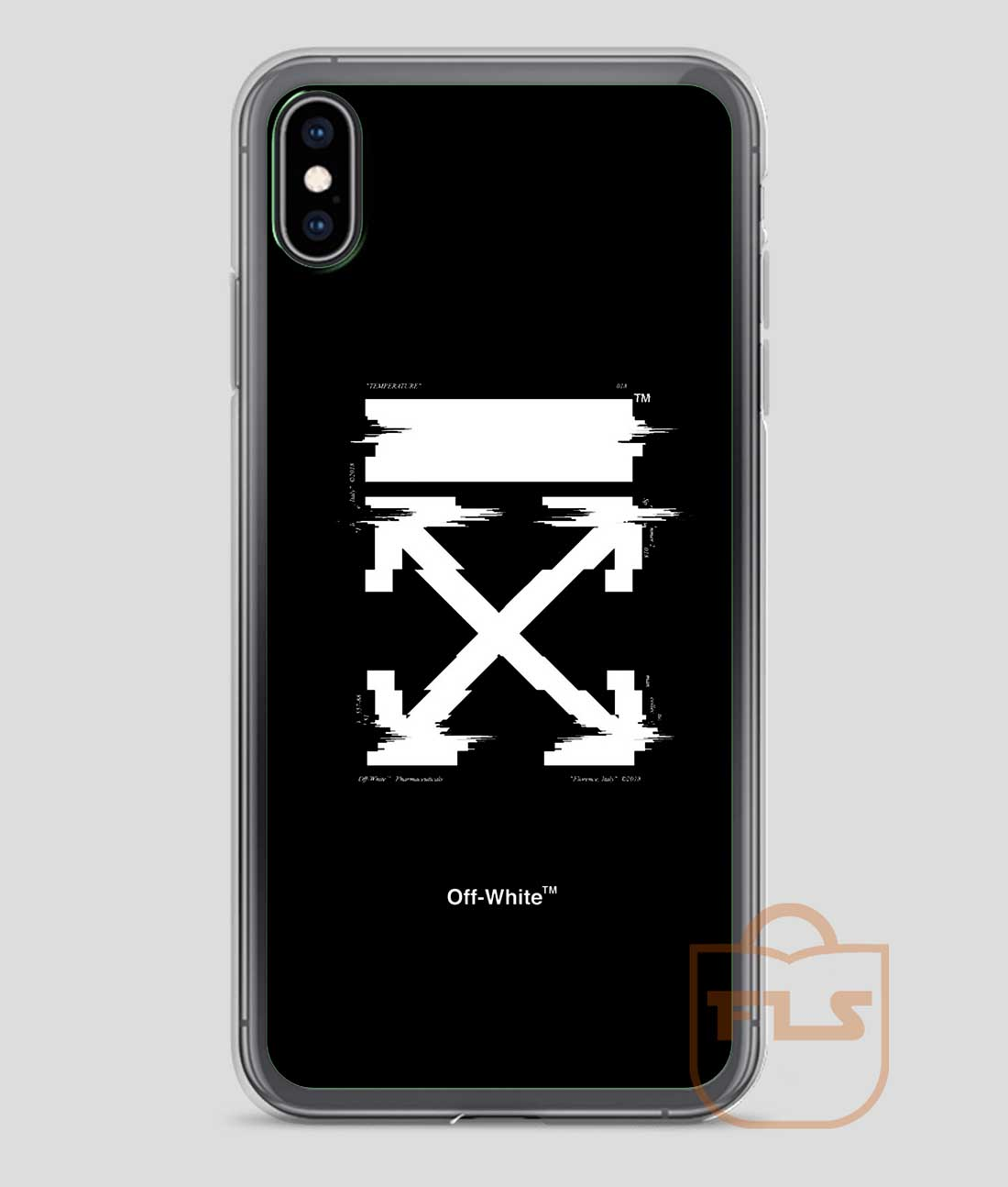 quality design b212d 37cd0 Off-White Arrows Temperature Glitch iPhone Case X XS XR XS Max