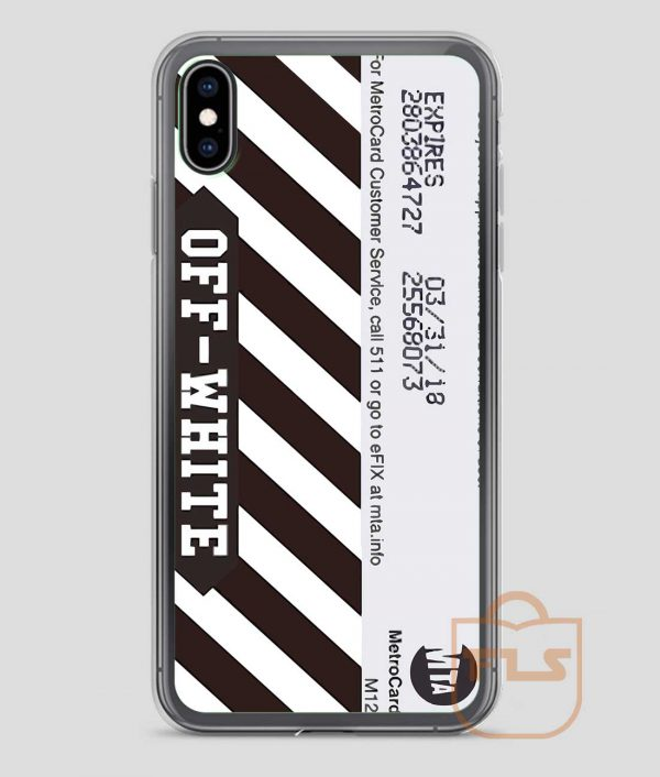 Off-White Metro Card iPhone Case