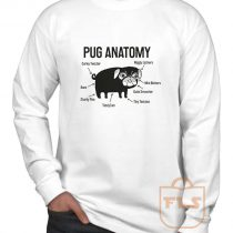 Pug Anatomy Long Sleeve Shirt