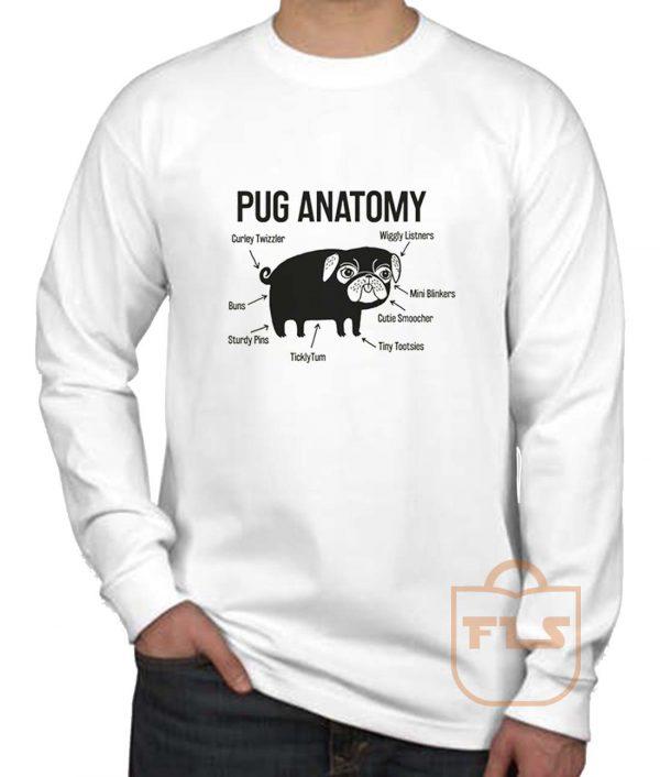 Pug Anatomy Long Sleeve Shirt