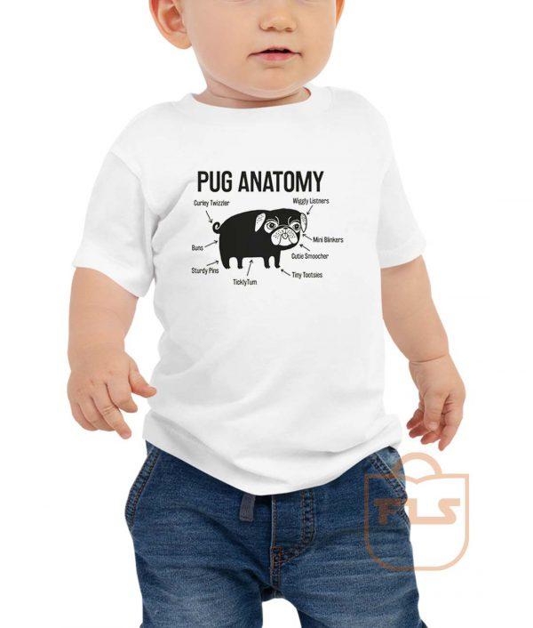 Pug Anatomy Toddler T Shirt
