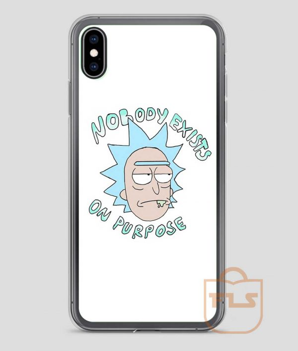 Rick-Sanchez-Nobody-Exists-On-Purpose-iPhone-Case