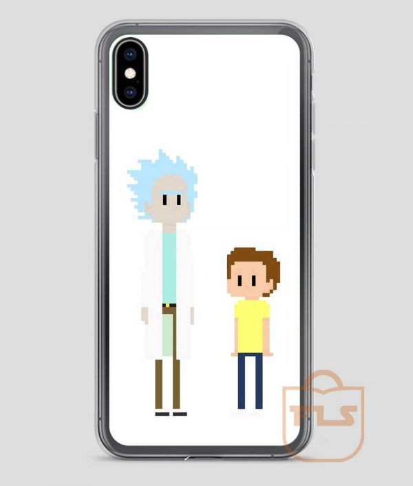 Rick-and-Morty-8-bit-iPhone-Case