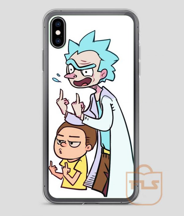Rude-Rick-and-Morty-iPhone-Case