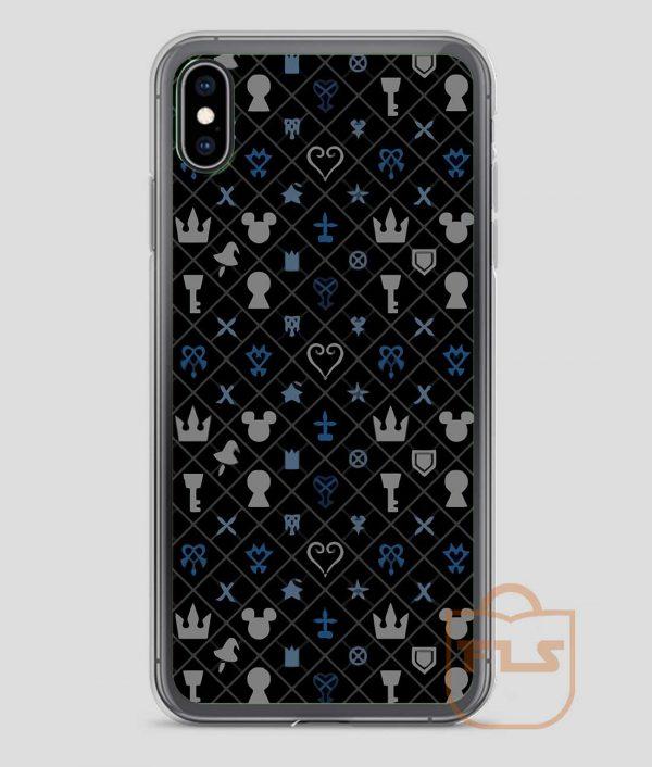 kingdom Hearts Pattern iPhone Case