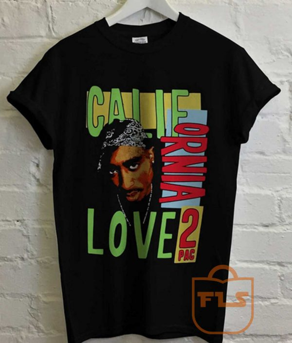 2Pac Tupac Calie Love Retro T Shirt