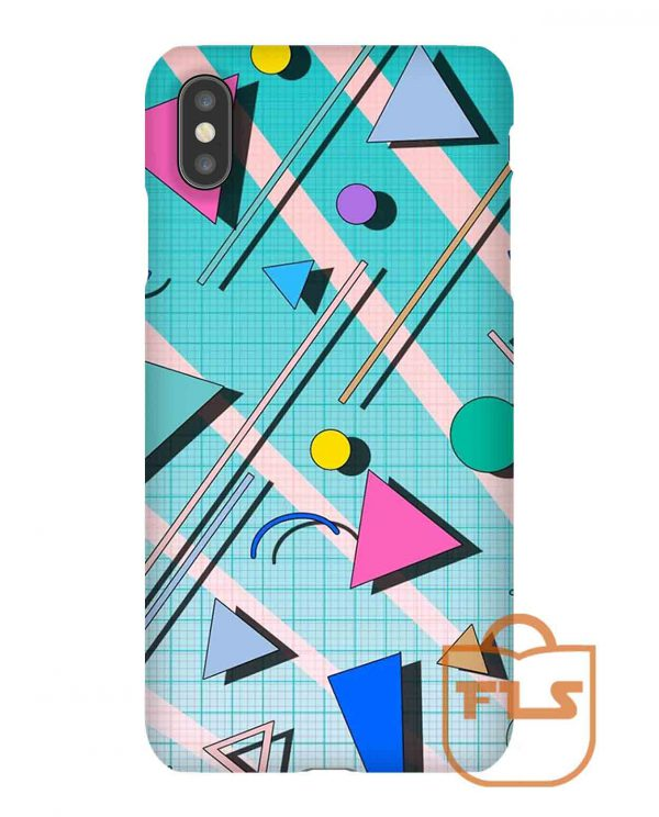80s Pop Retro Pattern iPhone Case