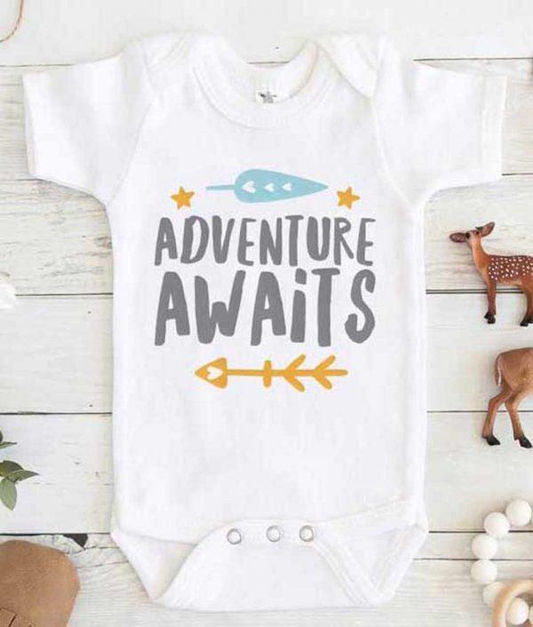 Adventure Awaits Baby Onesie