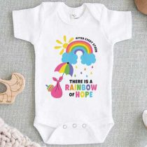 After Every Storm There is a Rainbow of Hope Baby Onesie