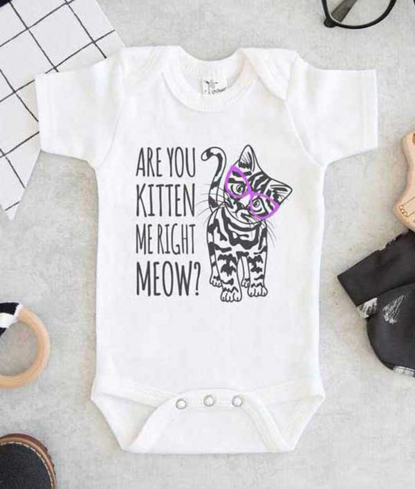 Are You Kitten Me Right Meow Baby Onesie