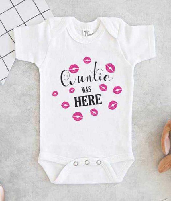 Auntie Was Here Baby Onesie