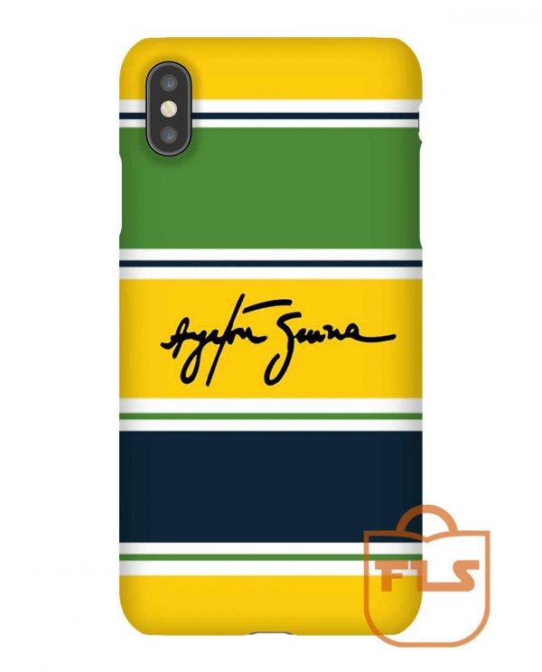 Ayrton Senna Helmet iPhone Case