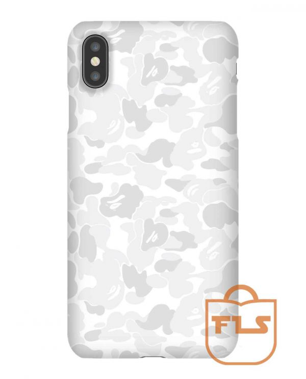 BAPE CAMO White iPhone Case