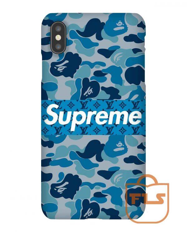 Bape Supreme Blue iPhone Case