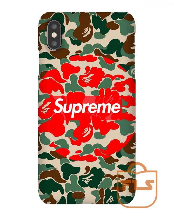 Bape X Supreme iPhone Case