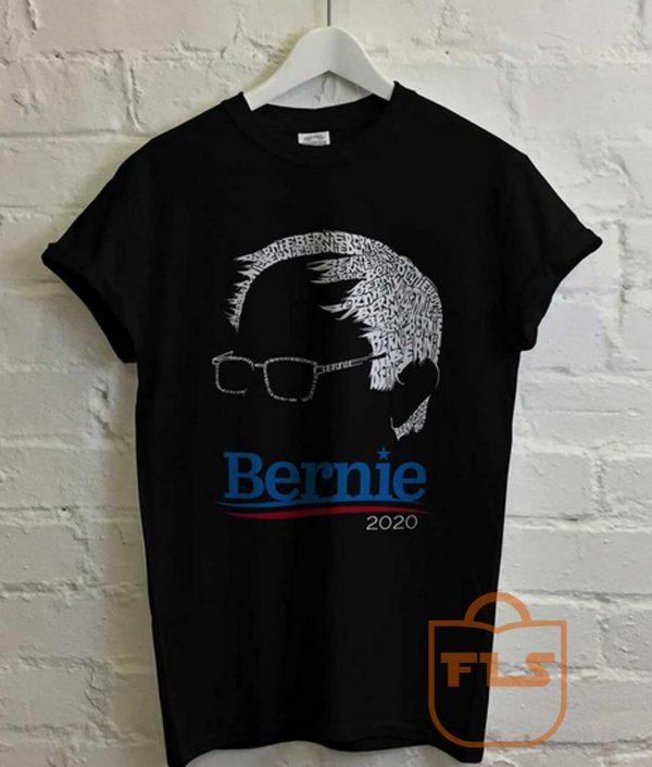 Bernie Sanders 2020 Typhograph T Shirt