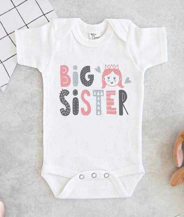 Big Sister Cute Baby Onesie