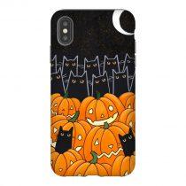 Black Cat Jack O Lanterns iPhone Case