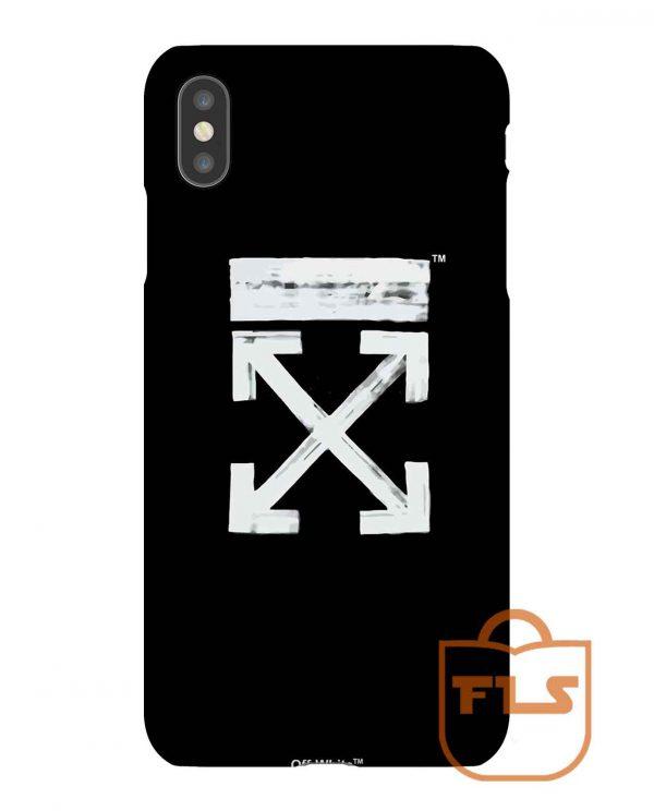 Black Off White iPhone Case