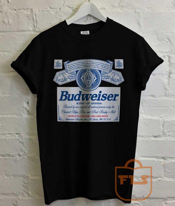 Budweiser Beer Logo Vintage T Shirt