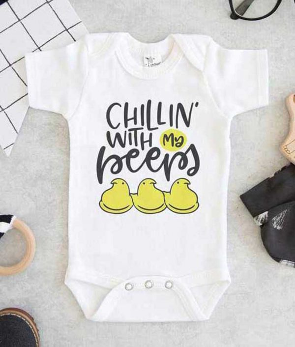 Chillin With My Peeps Baby Onesie