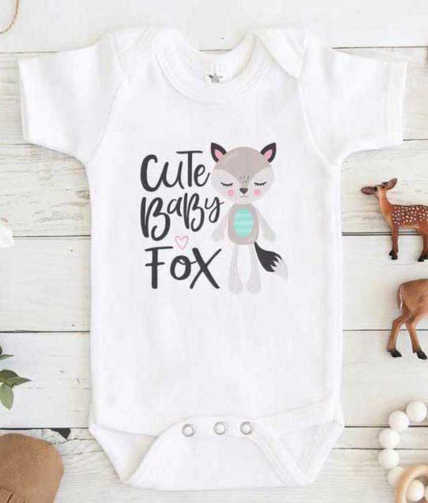 Cute Baby Fox Baby Onesie