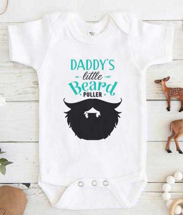 Daddys Little Beard Puller Baby Onesie