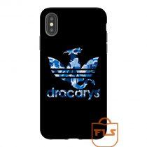 Dracarys Adidas Bape Blue iPhone Case