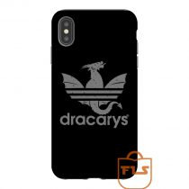 Dracarys Adidas Grey iPhone Case