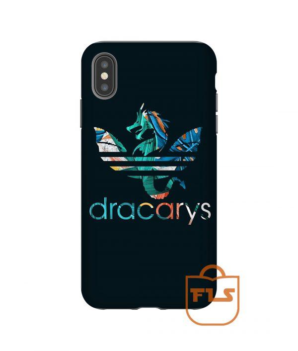 Dracarys Flowers Blue iPhone Case