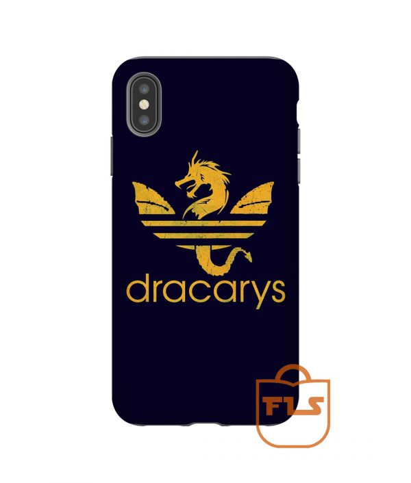 Dracarys Gold Navy iPhone Case