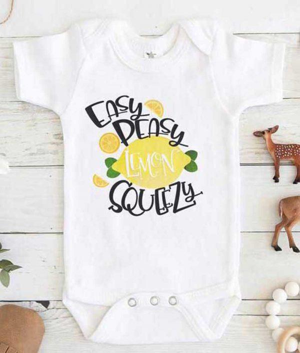 Easy Peasy Lemon Squeezy Baby Onesie