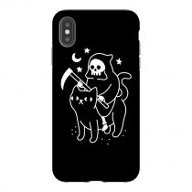 Grim Reaper Black Cat iPhone Case