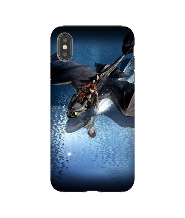 Hiccup and Toothless Flashback iPhone Case