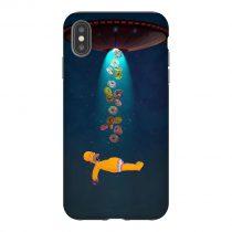 Homer Alien Donuts iPhone Case