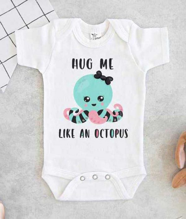 Hug me like an octopus Baby Onesie