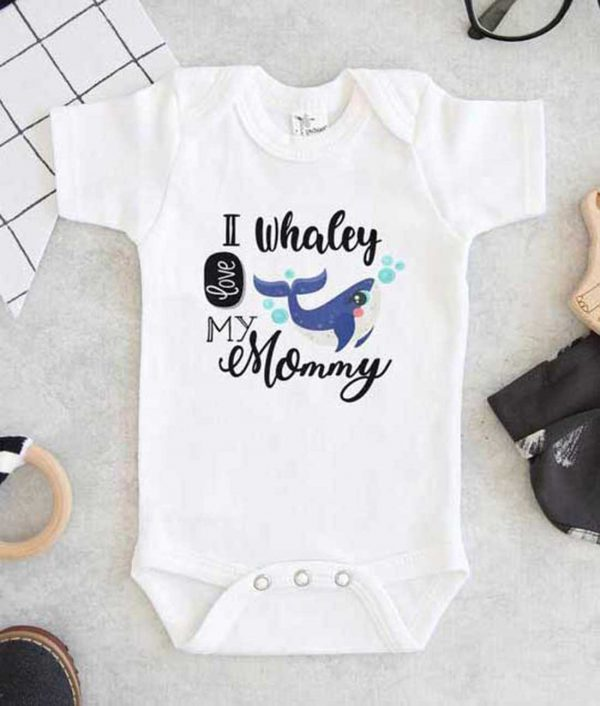 I whaley Love My Mommy Baby Onesie