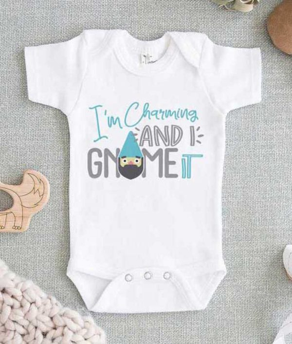 Im Charming and I Gnome it Baby Onesie